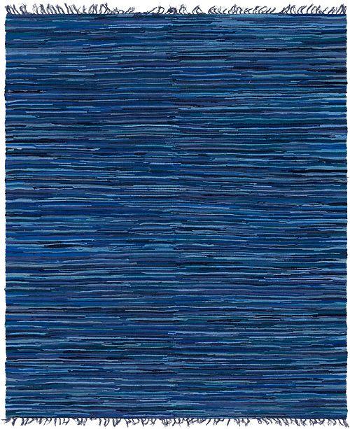 Bridgeport Home Jari Striped Jar1 Navy Blue 8' x 10' Area Rug