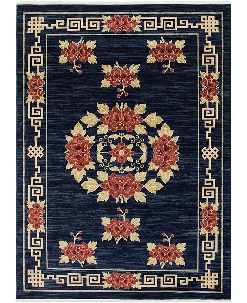 Bridgeport Home Sahil Sah4 Navy Blue 9' x 12' Area Rug