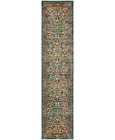 """Thule Thu1 Turquoise 2' 2"""" x 9' 10"""" Runner Area Rug"""