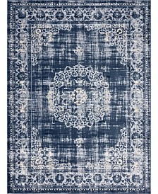 "Bridgeport Home Anika Ani1 Navy Blue 9' 10"" x 13' Area Rug"
