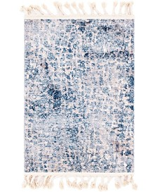 "Bridgeport Home Levia Lev3 Blue 2' 4"" x 3' 3"" Area Rug"