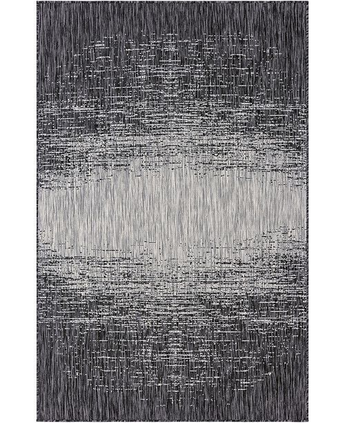 Bridgeport Home Pashio Pas7 Charcoal Gray 5' x 8' Area Rug