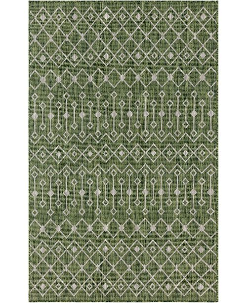Bridgeport Home Pashio Pas7 Green 5' x 8' Area Rug