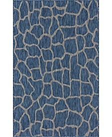 Pashio Pas7 Blue 5' x 8' Area Rug