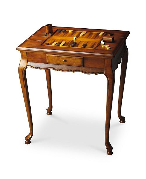 Butler Specialty Butler Bannockburn Burl Game Table