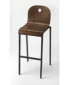 CLOSEOUT! Butler Lucroy Walnut Bar Stool