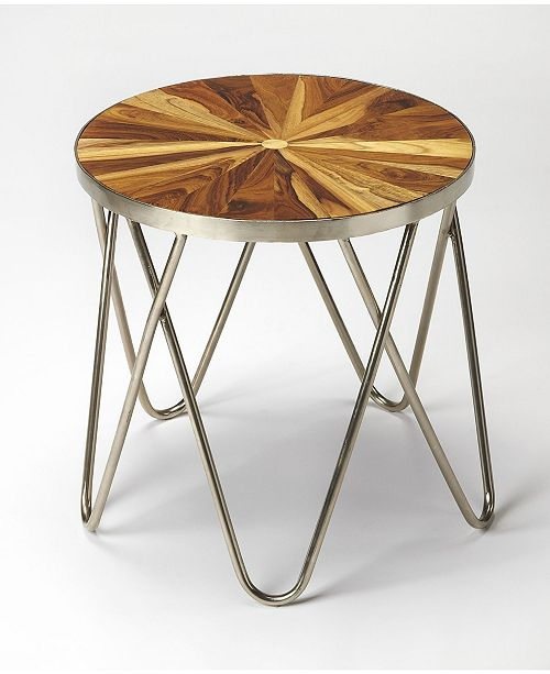 Butler Specialty CLOSEOUT! Butler Hairpin Iron and Wood End Table