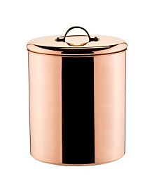 Old Dutch International Polished Copper Canister with Brass Knob, 4 -Quart