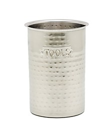 """International Hammered Stainless Steel Tool Caddy, 6.25"""" H"""