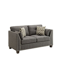 Laurissa Loveseat with 4 Pillows