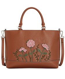 Saffiano Flower Satchel, Created for Macy's