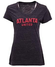 Majestic Women's Atlanta United FC Official Wordmark Tri-Blend T-Shirt