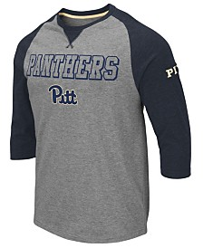 Colosseum Men's Pittsburgh Panthers Team Patch Three-Quarter Sleeve Raglan T-Shirt