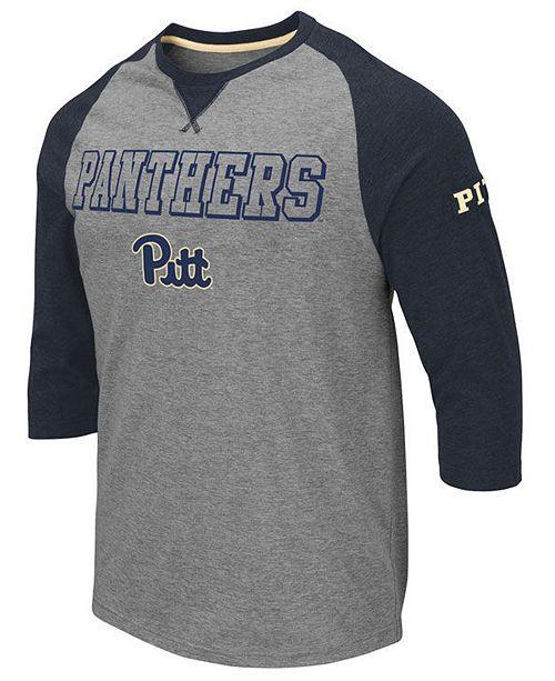 Colosseum Men's Pittsburgh Panthers Team Patch Three-Quarter Sleeve Raglan T-Shirt