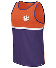 Colosseum Men's Clemson Tigers Color Blocked Tank
