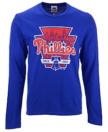 Majestic Men's Philadelphia Phillies Iconic Local Long Sleeve T-Shirt