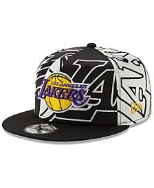 New Era Los Angeles Lakers Over Satin 9FIFTY Snapback Cap