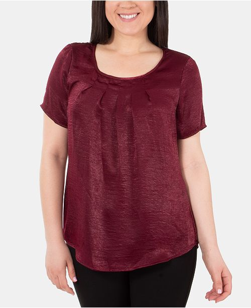 NY Collection Pleated Top