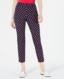 Charter Club Printed Capri Pants, Created for Macy's
