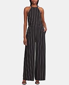 Lauren Ralph Lauren Stripe-Print Halter Jumpsuit
