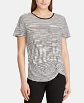 37d3c6346b Lauren Ralph Lauren Stripe-Print Twist-Knot T-Shirt
