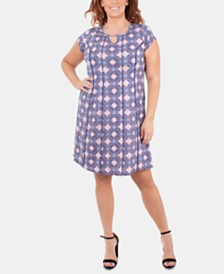 NY Collection Plus Size Embellished Fit & Flare Dress