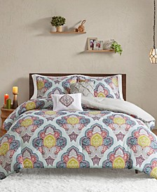 CLOSEOUT! Isadora Twin/Twin XL 4-Pc. Paisley Medallion Print Comforter Set