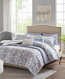 Madison Park Erica 8-Pc. Printed Seersucker Comforter and Coverlet Sets