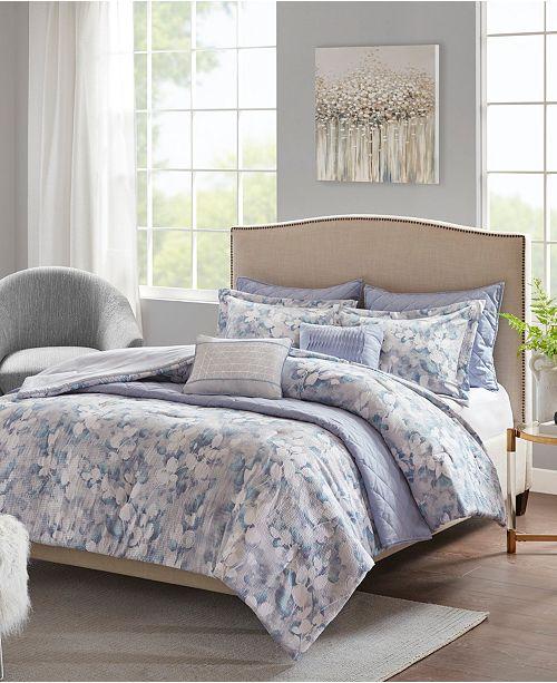 Intelligent Design Madison Park Erica 8-Pc. Printed Seersucker Comforter and Coverlet Sets
