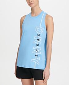DKNY Sport Reflective-Logo Tank Top