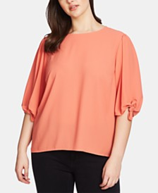 1.STATE Plus Size Knot-Sleeve Blouse