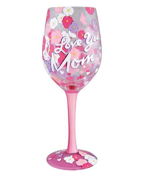 Enesco Lolita I Love You Mom Wine Glass