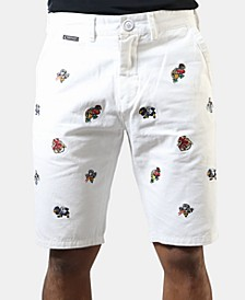 Men's Embroidered Shorts