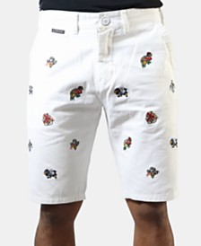 Heritage America Men's Embroidered Shorts