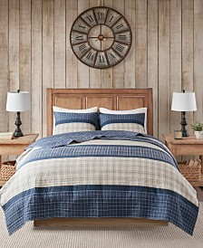 Woolrich Flagship King/California King 3 Piece Reversible Cotton Oversized Quilt Mini Set