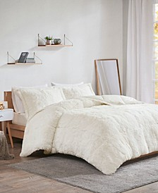 Malea 3-Pc. Shaggy Faux Fur Comforter Sets