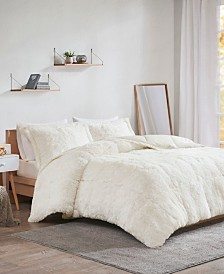Intelligent Design Malea 3-Pc. Shaggy Faux Fur Comforter Sets
