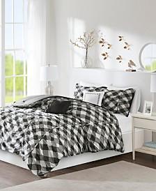 Intelligent Design Kelsie 5-Pc. Ruched Gingham Print Bedding Sets