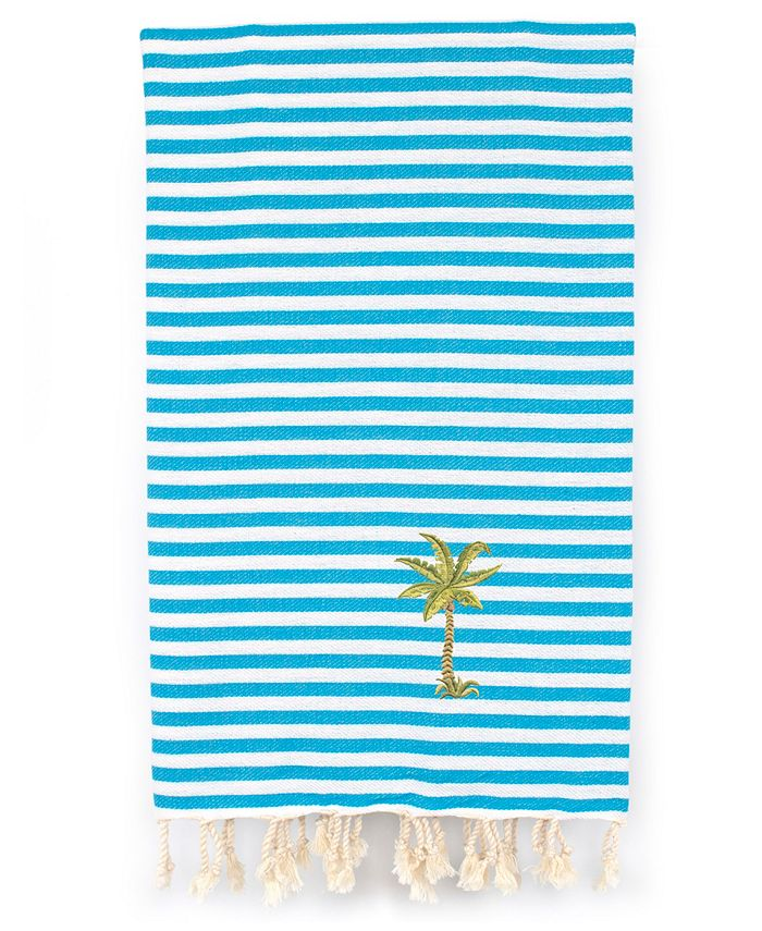 Linum Home - Fun in the Sun - Breezy Palm Tree Pestemal Beach Towel