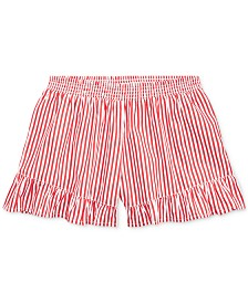 Polo Ralph Lauren Big Girls Striped Ruffled Cotton Shorts