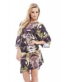 AX Paris Printed Over Size T Shirt Dress