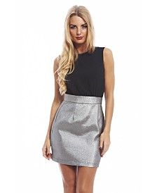 AX Paris Metallic Skirt 2 in 1 Dress