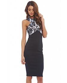 AX Paris Lace Detailed Top Midi Dress