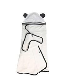 Panda Baby Rayon/Viscose from Bamboo Hooded Towel Set