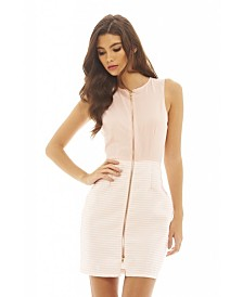 AX Paris 2 in 1 Striped Zip Front Dress