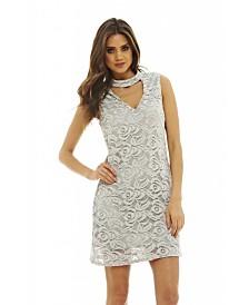 AX Paris Choker Neck Lace Dress