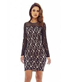 AX Paris Contrast Lace Midi Dress