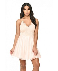 Prom Lace Detail Dress