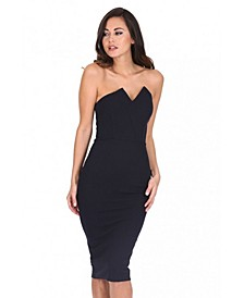 Notch Front Bodycon Dress