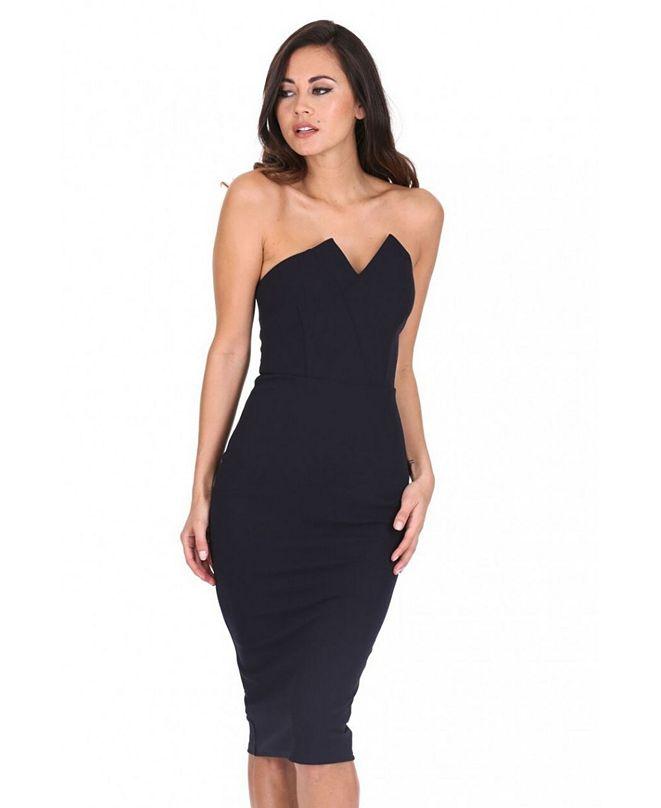 AX Paris Notch Front Bodycon Dress